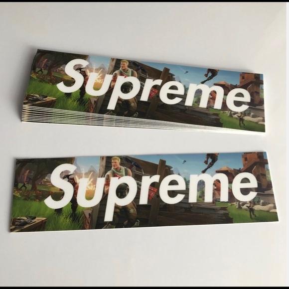 Supreme Other X Fortnite Sticker Custom Poshmark